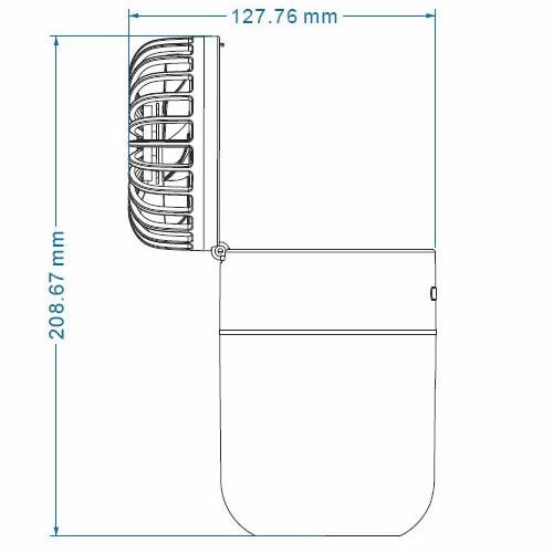 超音波加湿器US-F400 扇風機タイプ